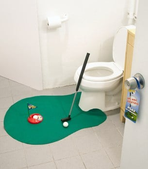 Toilet Tee Time Potty Putter Practice That Stroke