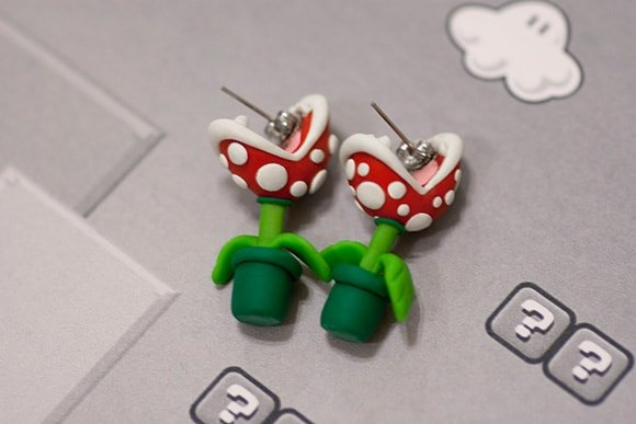 Mario earrings set for girls from Etsy