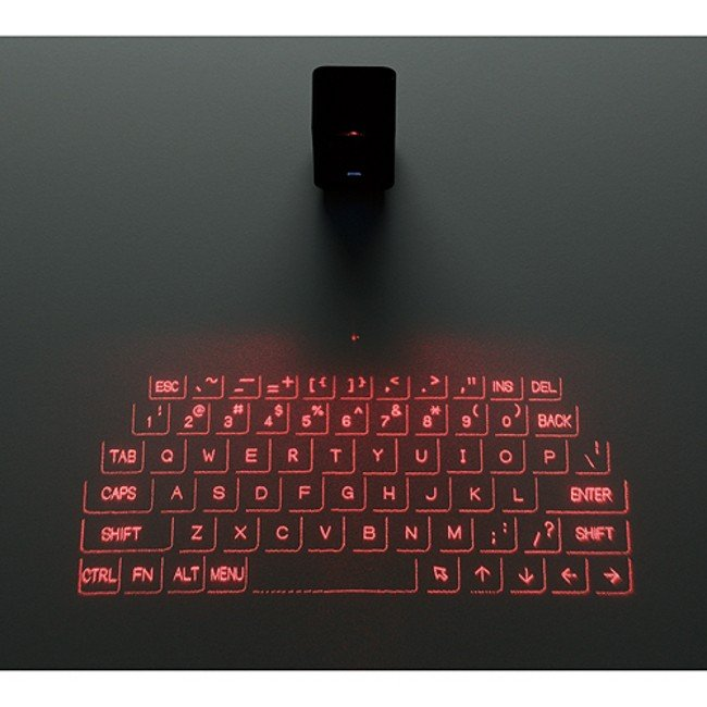laser projected keyboard