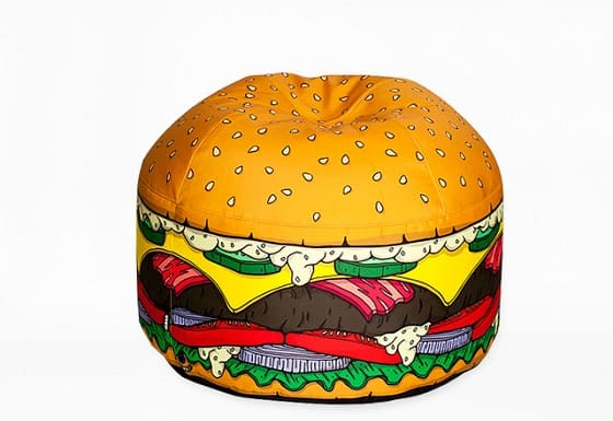 hamburger-shaped bean bag chair
