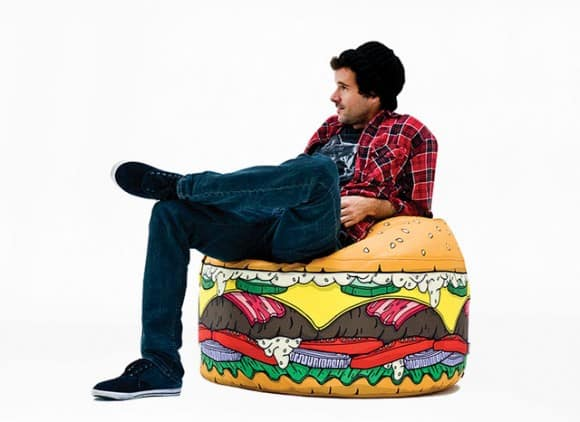 hamburger bean bag chair