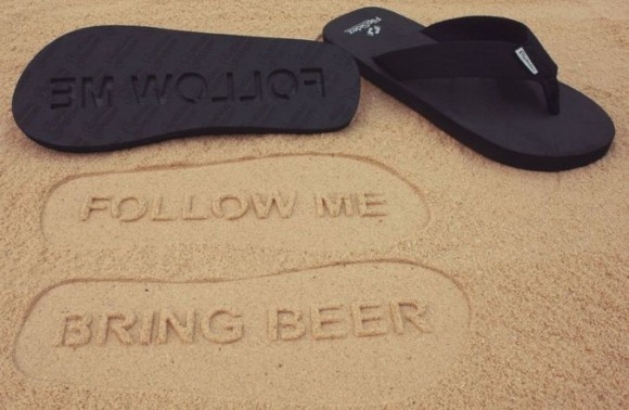 Post image for Follow Me, Bring Beer – Flip Flops by FlipSidez