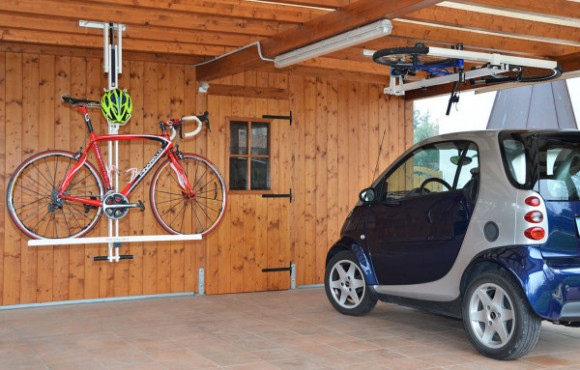 Post image for Flat-Bike-Lift: Bike Rack That Folds Into The Ceiling