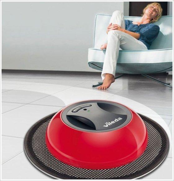 vileda cordless bagless dusting robot geekextreme. Black Bedroom Furniture Sets. Home Design Ideas
