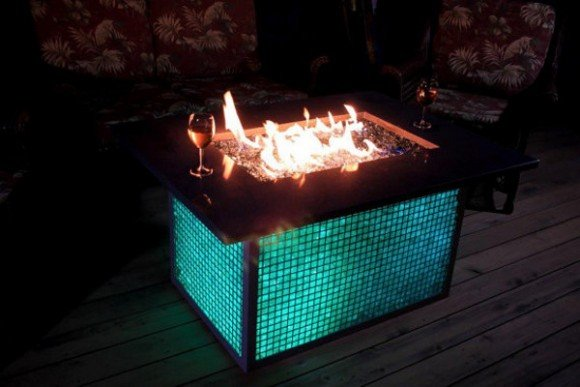 Post image for Color Changing Gabian Fire Pit