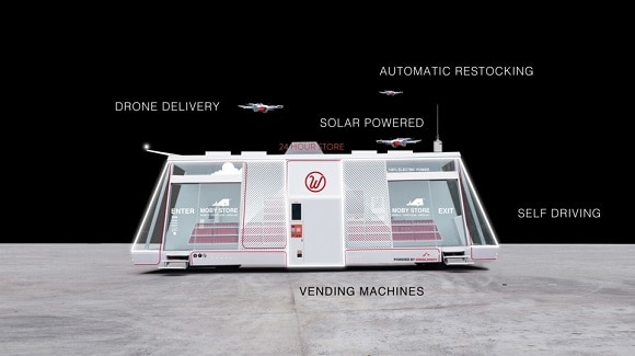 Post image for The Moby Mart – 24/7 Autonomous, Staff-less, Mobile Store